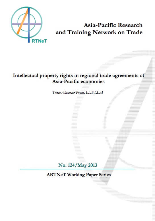 Publication Intellectual Property Rights In Regional Trade