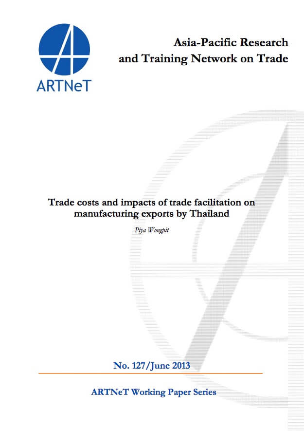 Publication: Trade costs and impacts of trade facilitation on