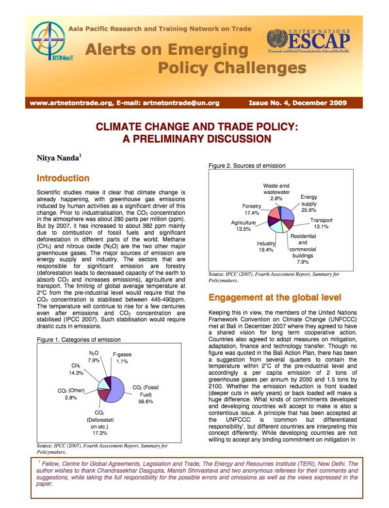 climate change and trade policy