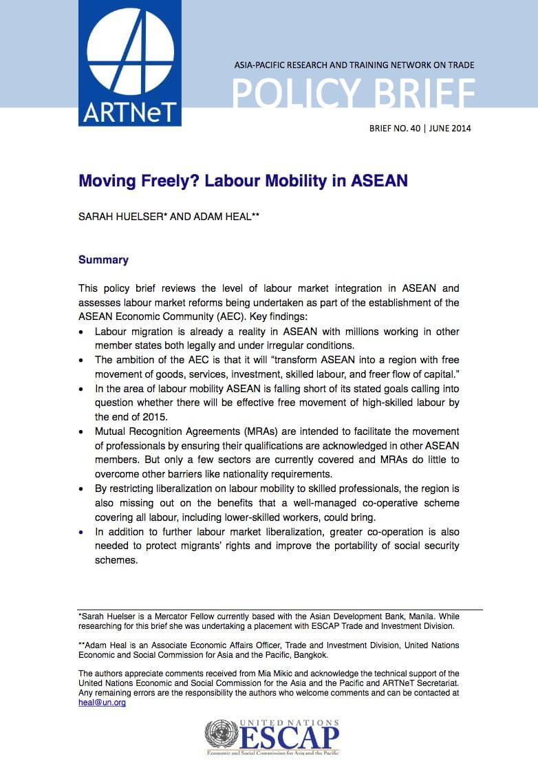 labor mobility asean